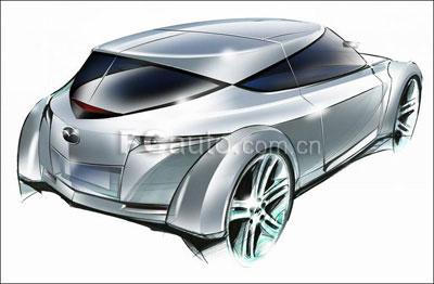 马自达推出全新概念跑车 Kusabi